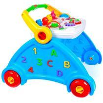 Andador Didático Infantil Azul com sons de animais - Poliplac -