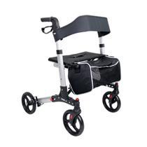 Andador em Alumínio Dobrável com Assento, Rodas e Freios modelo 2047 - Praxis -