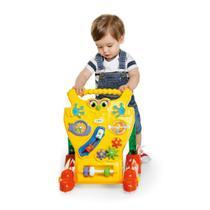 Andador feliz infantil 2 em 1 com centro de atividades amarelo - calesita - Tateti