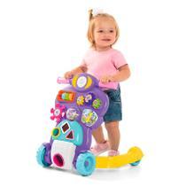 Andador Infantil Bebê Piloto Rosa Calesita Ta Te Ti -