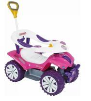 Andador Infantil Carrinho de Passeio Empurrador Triciclo Rosa - biemme
