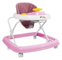 Andador Infantil Styllbaby Rosa Musical