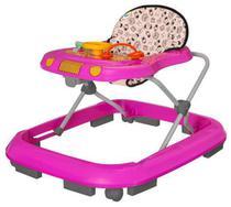Andador Infantil Tutti Baby Safari Musical Rosa -