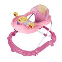 Andador para Bebê Dardara Carro Rosa -