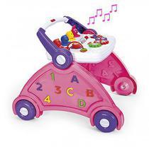 Andador poliplac rosa com som de animais -