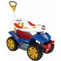 Andador Quadriciclo Dudu Car Haste Direcionável Azul Biemme -