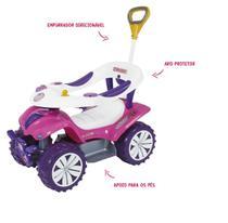 Andador Quadriciclo Sofy Haste Direcionável Rosa - Biemme
