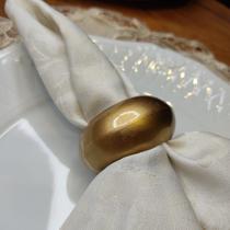 Anéis para Guardanapo 4 Peças Dourado - Mundiart
