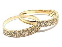 Anel de ouro 18k aparador com Pedras - Elegancy Joias