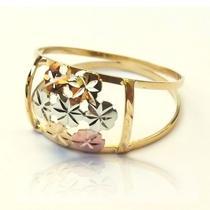 Anel em Ouro 18k Floral Oros 3 Ouros - Meu Anel