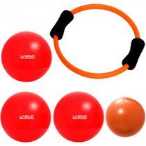 Anel Flexivel + Over Ball 25 Cm + 3 Bolas Suicas 45 Cm  Liveup -