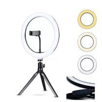 Anel Iluminador LED Flexivel Ring Light Tripe 20cm com Suporte Celular Universal Selfie Youtuber Gravação Fotos Makes - Right Light