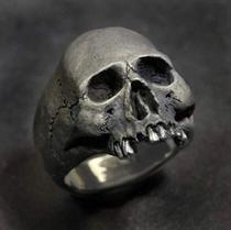 Anel Masculino Caveira Cranio Vintage Motoqueiro Punk Rock - Tiger Gifts