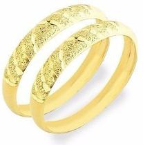 Anel Ouro 18k 750 Par De Aparador de Aliança Fosco - Dr Joias
