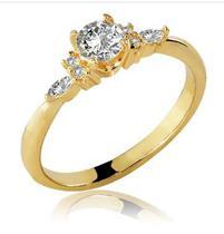 Anel ouro amarelo 18k - cinderela - Rainha Jóias