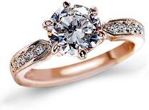 Anel Solitário Noivado Compromisso Namoro Banhado A Ouro Rosê 18k - Jewelery