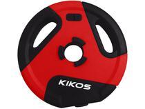 Anilha 1kg Preto e Vermelho Kikos - Style