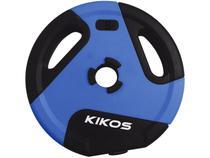Anilha 5kg Preto e Azul Kikos - Style