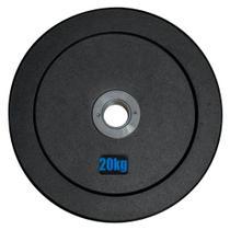 Anilha Olímpica Emborracha Bumper - Rae Black 20 kg - Rae Fitness -