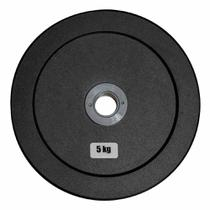 Anilha Olímpica Emborracha Bumper - Rae Black  5 kg - Rae Fitness -