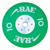 Anilha Olímpica Emborrachada Colorida Bumper de Competição - Competition 10 kg - Rae Fitness -