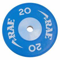 Anilha Olímpica Emborrachada Colorida Bumper de Competição - Competition 20 kg - Rae Fitness -