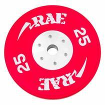Anilha Olímpica Emborrachada Colorida Bumper de Competição - Competition 25 kg - Rae Fitness -