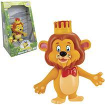 Animal leao juba de vinil giramille na caixa - Zucca Toys