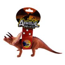 Animal World Dinossauro com Som 25 cm - Triceratops - Buba -