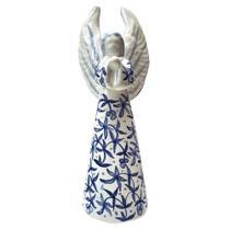 Anjo da Guarda para sua casa - ceramica Pintada a mao - Arte - Fainça