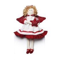 Anjo Vermelho Decoração De Natal Vermelha - Cromus