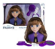 Anna Boneca Infantil Frozen Ii Styling Heads Disney - Rosita -