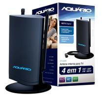 Antena Aquario TV Interna DTV-4500 Recepção VHF UHF e HDTV Design Moderno e Arrojado - Kidasen -