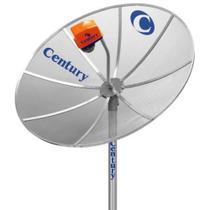 Antena Century 1.70m Multiponto sem Receptor 17 - Prata -