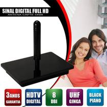 Antena Digital 4K Interna Omnidirecional Capte Onix e Cabo Coaxial 5 mts -