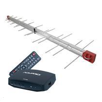 Antena Digital 4K UHF Digital Log 34 Elementos + Conversor e Gravador Digital Aquário DTV 7000S - Capte