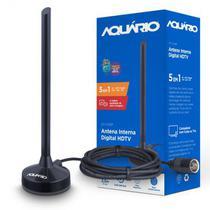 Antena Digital 5 Em 1 Vhf Uhf Fm Hdtv 4k  Dtv100p Aquário - Aquario