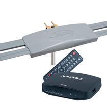 Antena Digital Externa Capte Grafite + Conversor e Gravador Digital Dtv 7000S Aquario HDMI - USB -