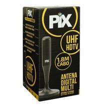 Antena Digital Interna e Externa Cabo 1,8 Metros Imagem em HD PIX -