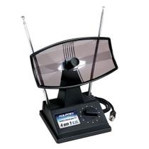Antena Interna para TV Aquário TV-350 Mini Parabólica VHF UHF e FM - Aquario