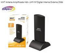 Antena TV Digital Interna e Externa Amplificada HDTV VHF UHF - Mxt
