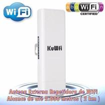 Antena Wifi Externa 2 Km Repetidor Sinal Wifi Access Point - Kuwifi