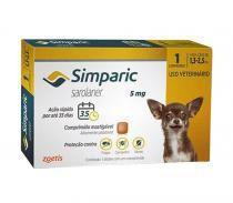 Anti pulgas simparic 1,3kg a 2,5kg - 01 comprimido - Zoetis