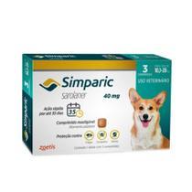 Anti Pulgas Simparic 40 Mg 10,1 a 20 Kg Com 3 Comprimidos - Zoetis