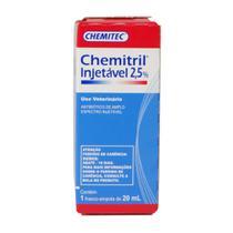 Antibiótico Chemitril Chemitec 2,5 Injetável 20ml -