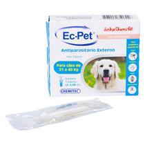 Antiparasitário EC-PET Chemitec p/ Cães (21 a 40kg) 2,68ml - Azul -