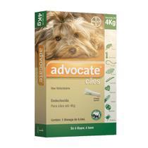 Antipulgas Advocate Bayer Para Cães Até 4kg -