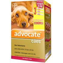 Antipulgas Bayer Advocate Cães 2,5 ml 10 a 25kg Combo Leve 3 Pague 2 -