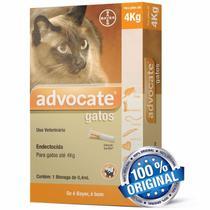 Antipulgas Bayer Advocate Para Gatos Até 4 Kg Com 0,4ml -