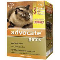 Antipulgas Combo Advocate Bayer para Gatos de até 4 Kg - 0,4 ml -